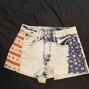 Mossimo star- spangled high waist shorts